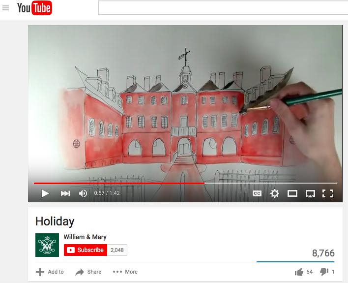 W&M YouTube screen shot